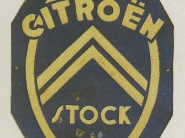 plaque citroen stock